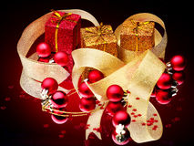 Christmas ball and ribbon. Stock Photography