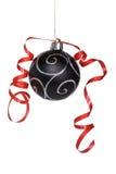 Christmas ball with a ribbon Stock Image