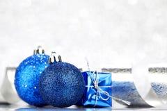 Christmas ball and ribbon Stock Photography