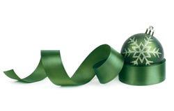 Christmas ball and ribbon Royalty Free Stock Image
