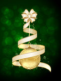 Christmas ball and ribbon Royalty Free Stock Photography
