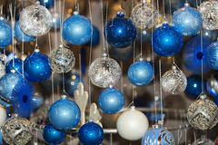 Christmas ball in a row, selective focus Stock Images