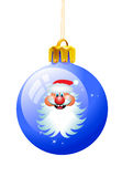 Christmas ball santa Royalty Free Stock Photo