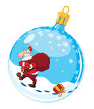 Christmas ball with Santa Royalty Free Stock Photography