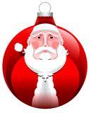 Christmas. Ball with santa claus Royalty Free Stock Images