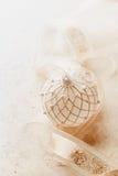 Christmas ball and satin ribbon Royalty Free Stock Photography