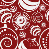 Christmas ball seamless pattern Stock Photography