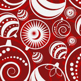Christmas ball seamless pattern Stock Photos