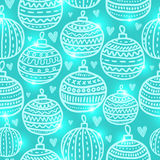 Christmas ball seamless pattern Stock Image