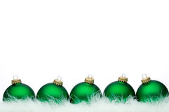 Christmas ball series. (isolated on white with copy space Stock Image