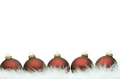 Christmas ball series. (isolated on white with copy space Royalty Free Stock Photo