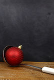 Christmas ball in a serving spoon Royalty Free Stock Photography