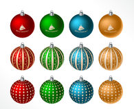 Christmas ball set Royalty Free Stock Photography