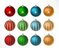 Christmas ball set Royalty Free Stock Photography