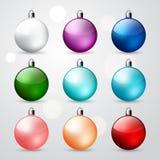 Christmas ball set Stock Photos