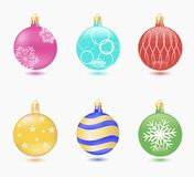 Christmas ball set vector Stock Images