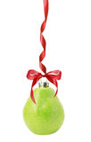 Christmas ball in shape of pear isolated on the white background Stock Image