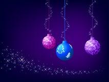 Christmas ball and shiny background Royalty Free Stock Photo