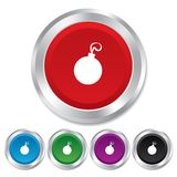 Christmas ball sign icon. Holidays button. Royalty Free Stock Photo