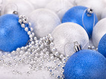 Christmas ball in snow. Royalty Free Stock Image
