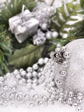 Christmas ball in snow. Royalty Free Stock Photography