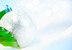 Christmas ball in the snow Royalty Free Stock Photos