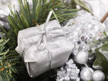Christmas ball in snow. Royalty Free Stock Photo