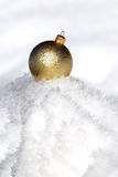 Christmas ball on snow Royalty Free Stock Photo