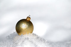 Christmas ball on snow Royalty Free Stock Photos