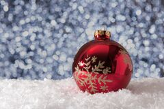 Christmas ball in snow Stock Photography