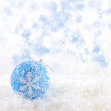 Christmas ball on snow Stock Photography