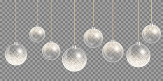 Christmas ball snow Royalty Free Stock Images