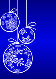 Christmas ball with snowflake Royalty Free Stock Image