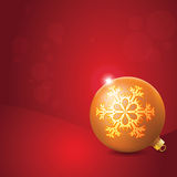 Christmas Ball with Snowflake Decoration Royalty Free Stock Photos