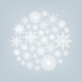 Christmas ball of snowflakes on a background. For design Royalty Free Stock Photography
