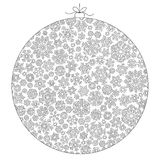 Christmas ball from snowflakes for a card vector. Pattern for co Royalty Free Stock Images