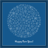 Christmas ball of snowflakes  illustration greeting card. Stock Photography