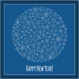 Christmas ball of snowflakes  illustration greeting card. Stock Image