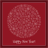 Christmas ball of snowflakes  illustration greeting card. Royalty Free Stock Images