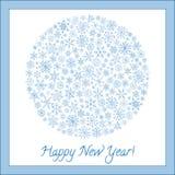 Christmas ball of snowflakes vector illustration greeting card. Royalty Free Stock Photography