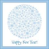 Christmas ball of snowflakes vector illustration greeting card. Stock Image