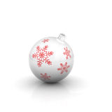 Christmas ball with snowflaks Royalty Free Stock Image