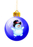Christmas ball snowman Stock Image