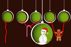 Christmas ball with snowman Stock Photography