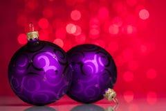 Christmas ball on sparkles Royalty Free Stock Photo
