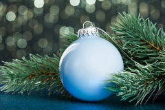 Christmas ball on sparkles Royalty Free Stock Photography