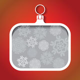Christmas ball square Stock Images