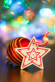 Christmas ball and star Royalty Free Stock Photo