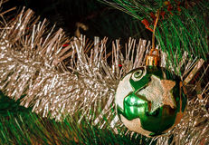 Christmas ball with star Stock Images