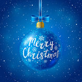 Christmas ball on starry background Stock Photo